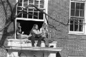 Preview image of Students sitting on window sill