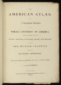 Preview image of The American atlas; or, A geographical description of the whole continent of America