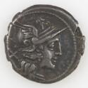 Preview image of Denarius of Anonymous, Rome, 157 B.C.-156 B.C. 2012.86.