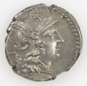 Preview image of Denarius of C Servilius, Rome, 136 B.C. 2012.91.