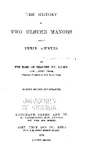 The history of two Ulster manors and of their owners