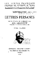 Preview image of Lettres persanes