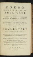 Preview image of Codex juris ecclesiastici anglicani