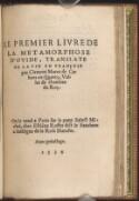 Preview image of Le premier liure de la Metamorphose d'Ouide