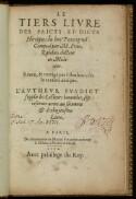 Preview image of Le tiers liure des faicts et dicts heroïques du bon Pantagruel