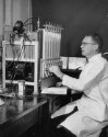Preview image of Dr. Desmond R. H. Gourley using Warburg respirometer