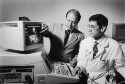 """Preview image of Dr. Sanjiv Kaul disscusses image of microbubble """"backscatter"""" with Dr. Jonathan Lindner"""