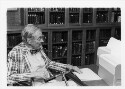 Preview image of Dr. Thomas H. Hunter browsing a manuscript at the Claude Moore Health Sciences Library Historical Collections