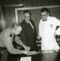 Preview image of John M. Stacey and Dr. Kenneth Crispell experiment with fingerprinting