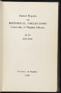 Preview image of Annual report on historical collections, University of Virginia Library
