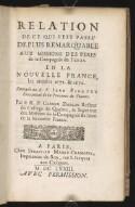 Preview image of Relation de ce qui s'est passé de plus remarquable aux missions des peres de la Compagnie de Jesus, en la Nouvelle France, les années 1671. & 1672