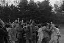 Preview image of People cheering players at University of Virginia versus James Madison University soccer game