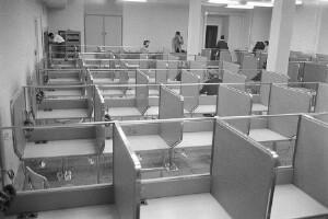 Desks in the Language Lab