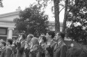 Preview image of Cadets taking oath at Reserve Officers' Training Corps commissioning exercises