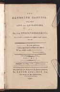 Preview image of The Algerine captive, or, The life and adventures of Doctor Updike Underhill