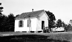 One room Negro schools of better type than average for state. Indian Road Colored School.