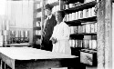 Preview image of President Hurst and matron in pantry, Fort Valley H and I School