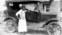 Preview image of Jeanes Teachers. Mrs. Nesmith and her Ford car.