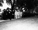 Preview image of Part of Commencement Procession, Virginia State College. Left to right: Rev. S.L. Gandy, Dr. Jackson Davis, President L.H. Foster, Dr. Fred M. Alexander(State Supervisor of Negro Education in VA and Supervisor of Secondary Education), Brigadier General George A. Horkan, Colonel Frank Snowden, Colonel F. D. Maxim, Major J. W. Tierney, Captian A.J. Gray, Captian Melvin T. Jackson, Lt. Minnie Patterson, Lt. Robert Weaver, Sgt. David Goodwyn, Dr. J.M. Gandy, Dean J.H. Johnston