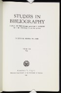 Preview image of Studies in bibliography