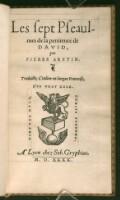 Preview image of Les sept Pseaulmes de la penitence de David