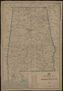 Preview image of Post route map of the state of Alabama, 1908
