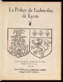 Preview image of La police de l'aulmosne de Lyon