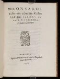Preview image of Ronsardi exhortatio ad milites Gallos