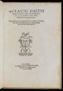 Preview image of Claudii Galeni Pergameni De naturalibus facultatibus libri tres