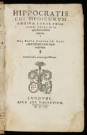 Preview image of Hippocratis coi medicorum omnium longe principis, opera quae apud nos extant omnia