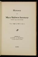 Preview image of History of Mary Baldwin Seminary (originally Augusta Female Seminary)