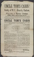Preview image of Uncle Tom's Cabin! At Vestry of M.E. Church, Hudson, Wednesday & Thursday evenings, Feb. 26th and 27th, 1879